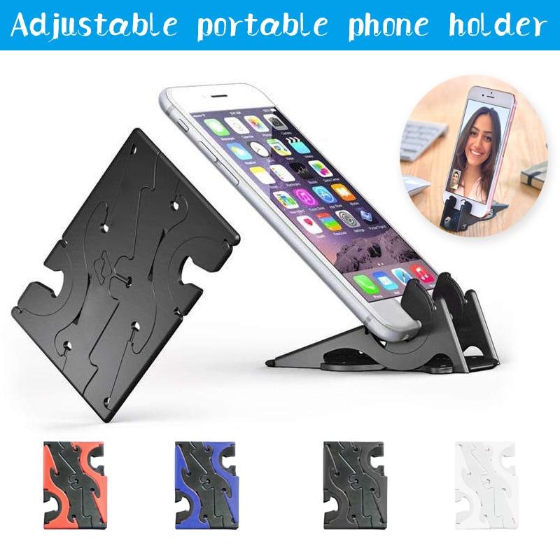 Foldable Rotation Card Type Stable Pocket Tripod Universal Mobile Phone Holder Portable Mini Mobile Phone Holder 2019 New
