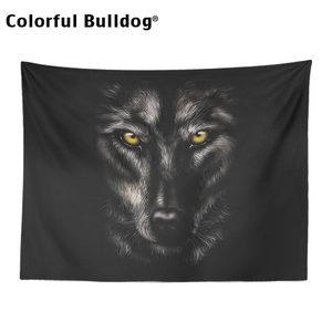 Image 5 - Moon Tapestryหมาป่าสัตว์Hippyแขวนแขวนโมร็อกโกงานแต่งงานSky Dreamcatcherมนุษย์หมาป่าตกแต่งบ้านSun Farmhouse