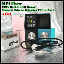 цена на Sport Music HIFI MP3 MP4 Player 100% Built-in 4GB Real Memory 1.8 LCD Media Video Game Movie FM Photo Viewer,with TF/SD Slot