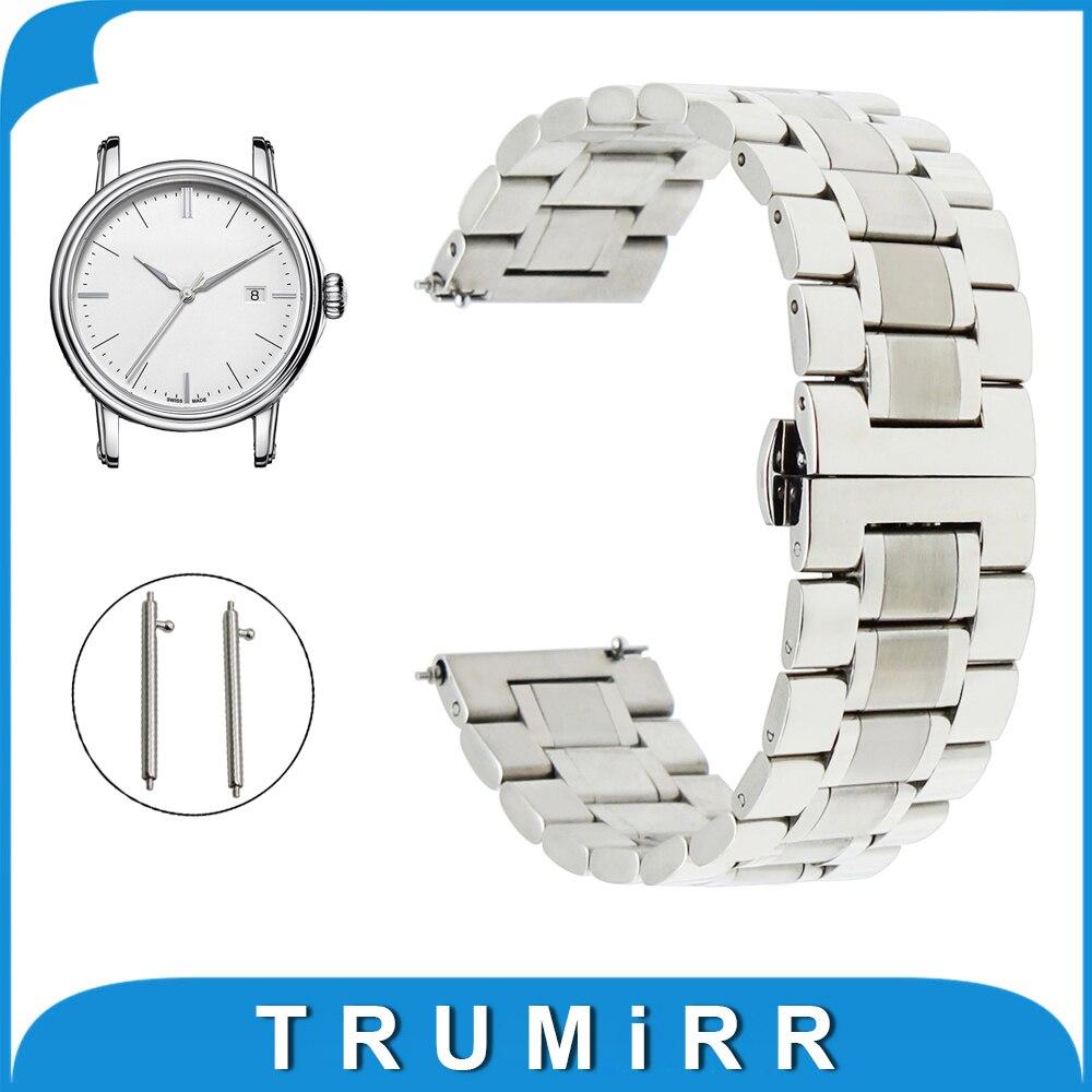 все цены на  20mm 22mm Stainless Steel Watch Band for Epos Quick Release Strap Butterfly Buckle Wrist Belt Bracelet Black Silver Grey  в интернете