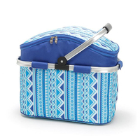 Convenient picnic basket outdoor picnic lunch box lunch bag large capacity insulated basket refrigerated