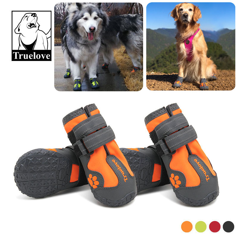 2019 Real Sale Small Medium Large Sizes Outdoor Dog Shoes For Sports Mountain Wearable For Pets TPR Soles Waterproof Reflective
