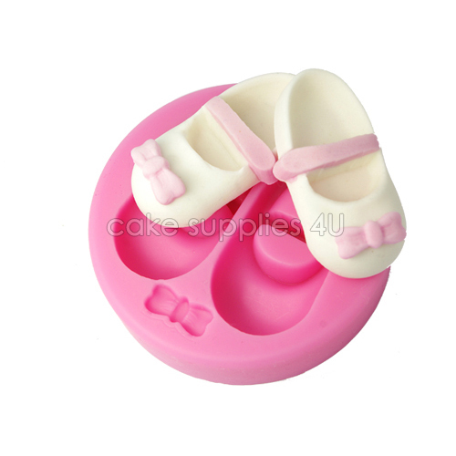 04dc5fe24a Baby girl shoes design Silicone embossing cupcake mold fondant decorating  mold newest cake decoration chocolate moulding tools