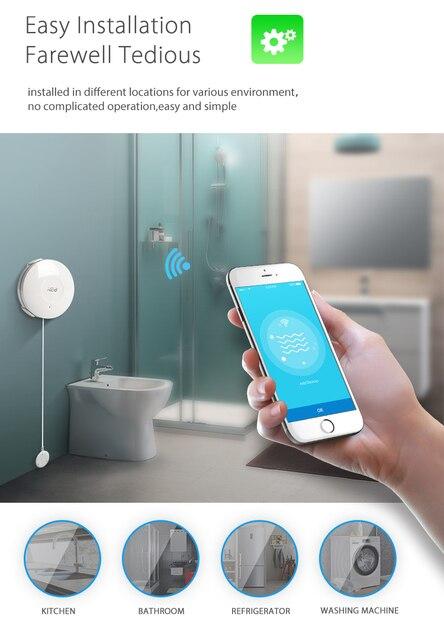 Tuya smart home security wifi water sensor flood sensor for smart life free APP compatible