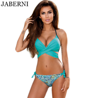 JABERNI Cross Brazilian Bikinis Women Push Up Swimwear Halter Top Swimsuit Sexy Bathing Suit High Neck
