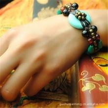 Mulheres Pulseira de 2016 Novos Acessórios DIY Weave Cobre Frisado Quente Refinamento Pulseiras Fine Jewelry Presente S041
