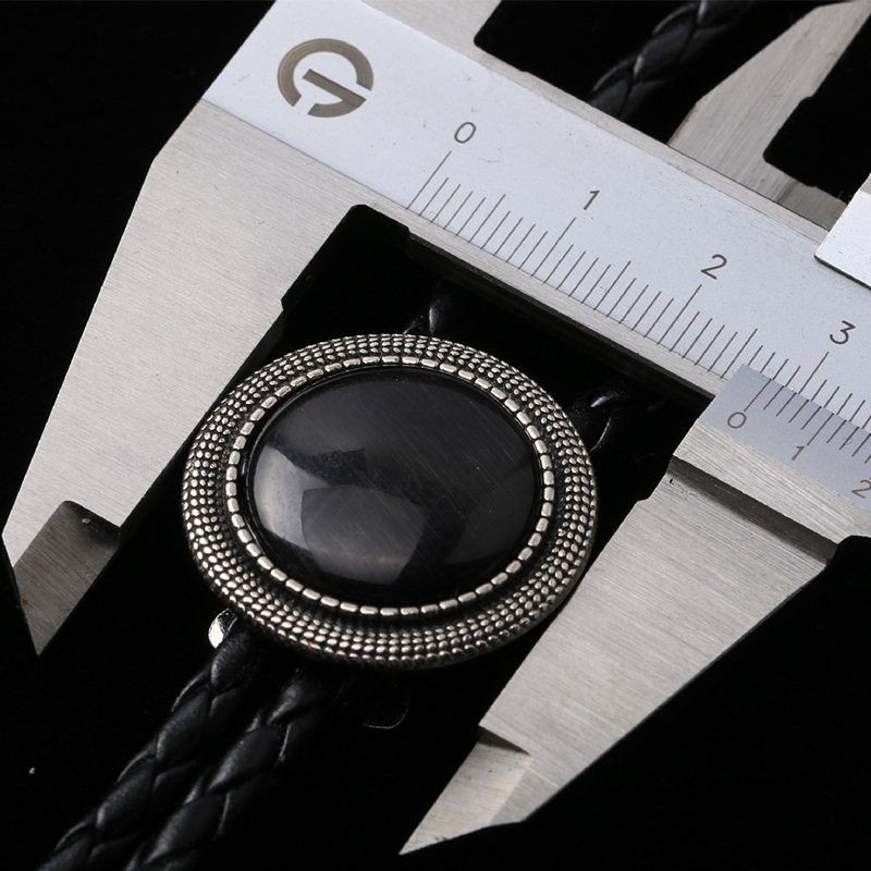 Hohe Qualität Herren Anzüge Gold/Schwarz Bolo Krawatte Hemd Poirot Krawatte Halskette Chian Bolo Fliege Kragen Seil krawatte