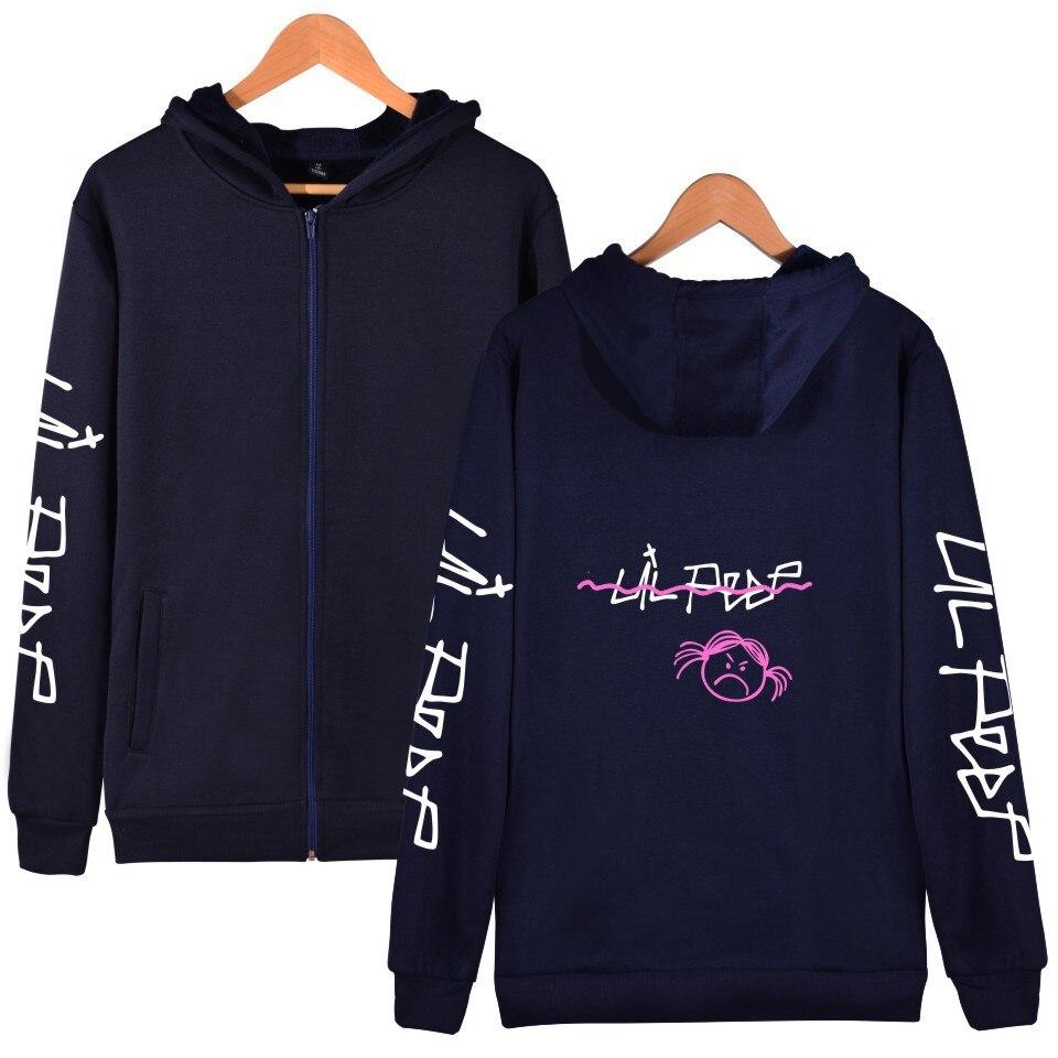 Wbddt Lil Peep Hoodies For Women Zipper Jackets Sweatshirt
