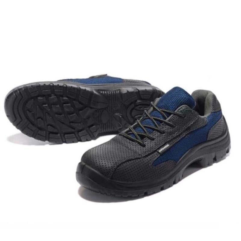 Casuais Dos Trabalho Sapatos Respirável De Botas deslizamento A Segurança Couro perfuração Não Homens Solas Borracha Verão Biqueira Anti Aço Do RrZcRwqU