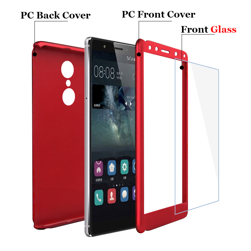 low cost f8fc0 f6f9f Anti-Shock Plastic Hard 360 Full Protect Xiaomi Redmi 5 Plus Case Redmi  Note 5 Tempered Glass Back Cover Redmi Note 5 Pro