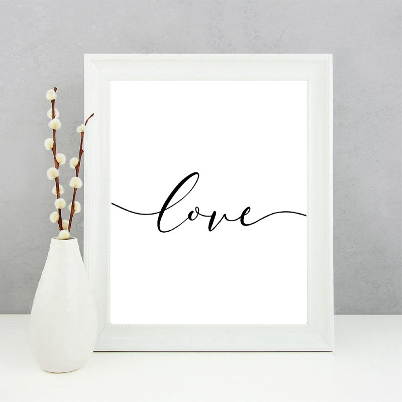 Verses Canvas Art Painting Home Wall Decor
