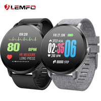 LEMFO V11 Smart watch IP67 waterproof Tempered glass Activity Fitness tracker Heart rate Blood Pressure Men women smartwatch