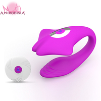 APHRODISIA USB Rechargeable 10 Mode Wireless Couple Vibrator, Silicone G Spot Clitoris Stimulator Massager Sex Toy for Female