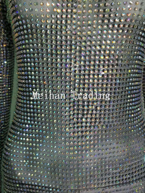0172bb286a4 Bling Fashion Sparkly Rhinestones Jumpsuit Full Crystals Prom Outfit Party  Glisten Crystals Costume Bodysuit Stage Rompers