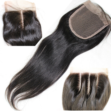Closures middle way part top straight lace closure human virgin brazilian