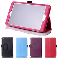 New Luxury 2-Folding Leeche Folio Stand PU Leather Skin Case Protective Cover For ASUS MeMO Pad 8 ME181C ME181 8