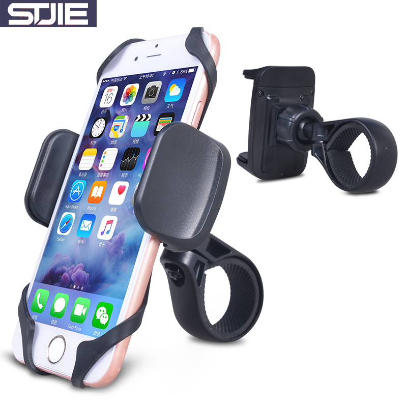 STJIE universal bike phone holder strong mount bicycle mobile phone holder for smartphon ...