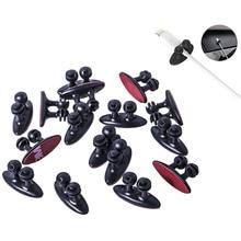 10 шт. Автомобильный держатель для кабеля, многофункциональный зажим для галстука, фиксатор, органайзер для автомобильного зарядного устройства, линия застежки, высокое качество, зажим для кабеля для наушников