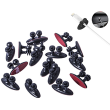 10Pcs Car Wire Cable Holder Multifunctional Tie Clip Fixer Organizer Car Charger Line Clasp High Quality Headphone Cable Clip