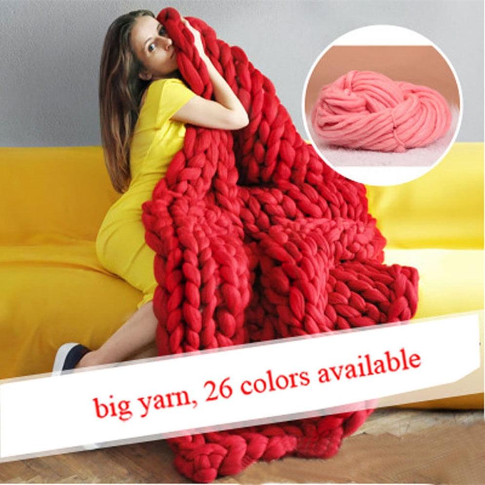 Hand Knitting Blanket Hats Super Thick Merino Wool Chunky Yarn Felt Wool Rovi...