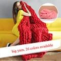 Hand Knitting Blanket Hats Super Thick Merino Wool Chunky Yarn Felt Wool Roving Bulky Yarn Winter Warm 250g/Lot