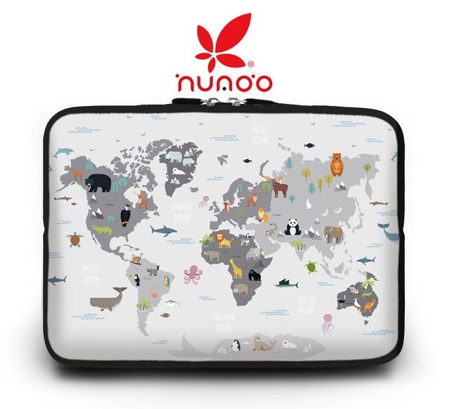 World map Sleeve laptop 9.7 inch 10''11.6