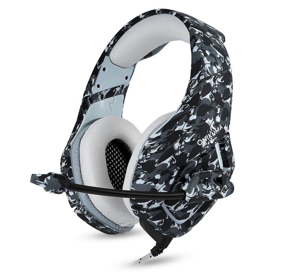 ONIKUMA K1 Casque Camouflage PS4 Headset with Mic Stereo Gaming Headphones for PC Cell Phone New Xbox One Laptop (2)