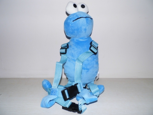 Promotion Blue Elmo Harness buddy Goldbug Animal 2 in 1 Harnesses Plush Toy Backpack Baby Harness Toddler Walker