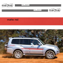 car stickers 4pc side body 4x4 off road stripe graphic vinyls accessories decals custom for mitsubishi pajero sport