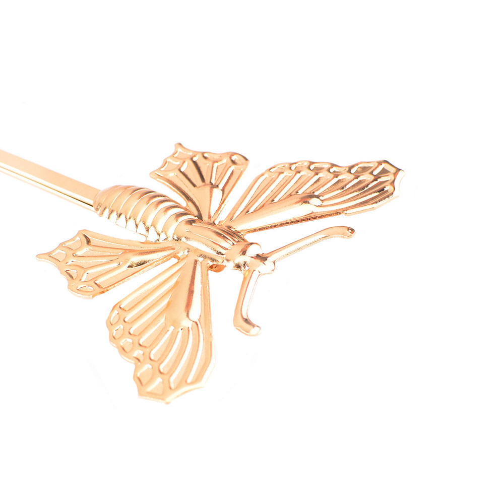 Butterfly hair accessories for weddings uk - 1pc Silver Gold Beautiful Butterfly Leaf Retro Hairpin Golden Wedding Uk Clip Boho Hair Accessory In Hair Accessories From Women S Clothing Accessories