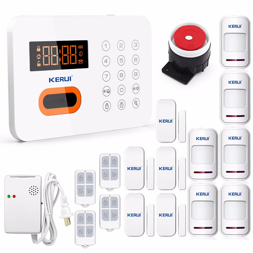 Wireless PSTN Touch Keypad Alarm System Security Home LCD Protection Burglar English/Russian/Spanish Voice Wireless Gas Detector