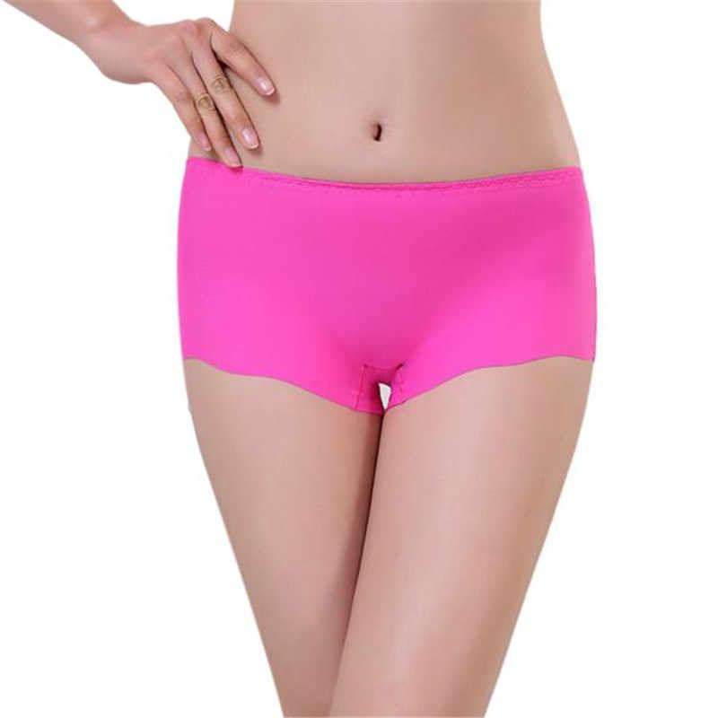Vrouwen Onzichtbare Ondergoed Spandex tanga Slips voor vrouwen Onderbroek meisje boxer Naadloze Kruis shorts vrouwen Thong lingerie solid