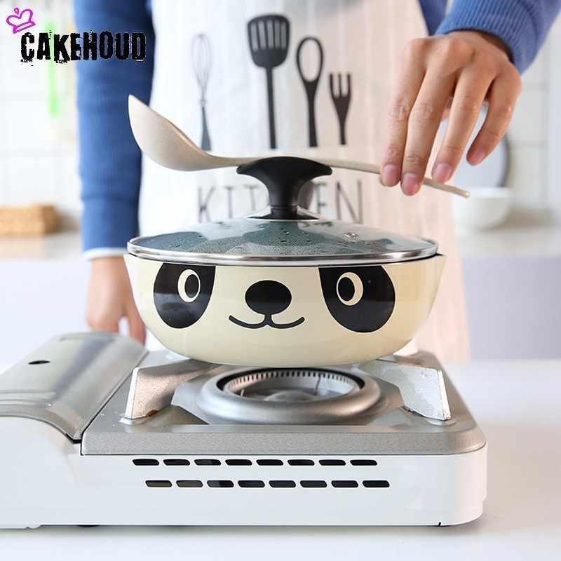 CAKEHOUD 20cm24cm26cm панда горшок японский стиль индукционная плита универсальная сковорода антипригарная алюминиевая кастрюля, сковорода каменная кастрюля
