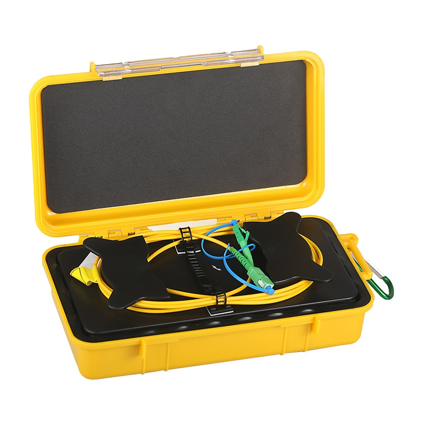 Fiber Optic OTDR Launch Cable Fiber Box 500m 1KM 2KM OTDR Dead Zone Eliminator (10)