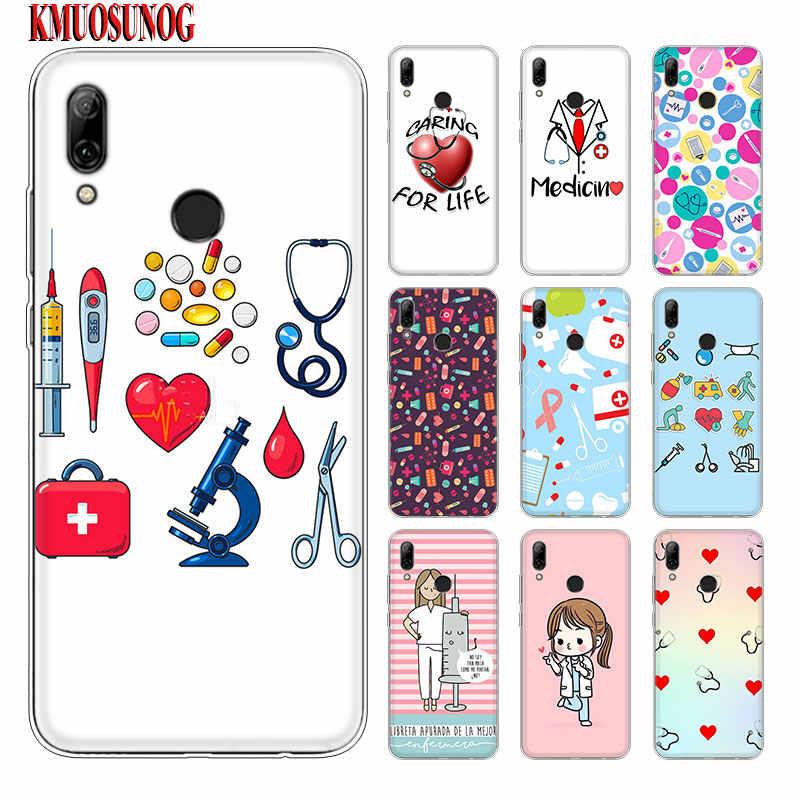 Silicone Phone Case Nurse Medical Medicine Health Heart for Huawei Y5 Y6 Y7 Y9 Mate 20 10 Lite Pro 2019 2018 2017 Nova 3 3i 4