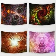 Monily Bohemia Mandala Pattern Tapestry Polyester Indian Geometric Home Living Room Decorative Wall Hanging Beach Towel Yoga Mat