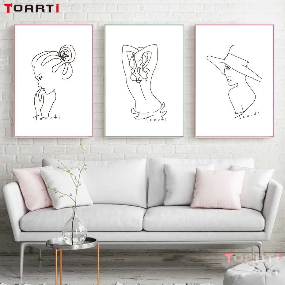Beauty of lines Sexy Women Body Nordic Posters And Print Modern Abstract Minimalist Canvas Painting Art Wall Picture Home Decor