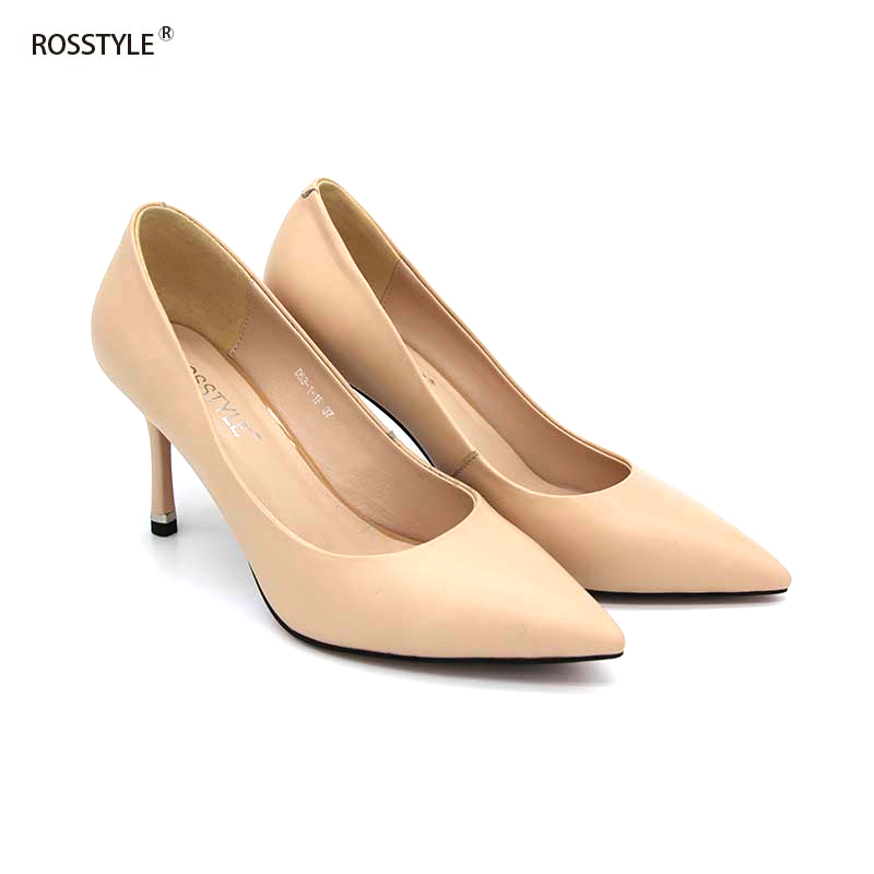 Rosstyle High Heel Shoes Pointed Toe Pumps Handmade Sheepskin Slop-on Genuine Leather Women Shoes High Heel Classic Pumps X2Rosstyle High Heel Shoes Pointed Toe Pumps Handmade Sheepskin Slop-on Genuine Leather Women Shoes High Heel Classic Pumps X2