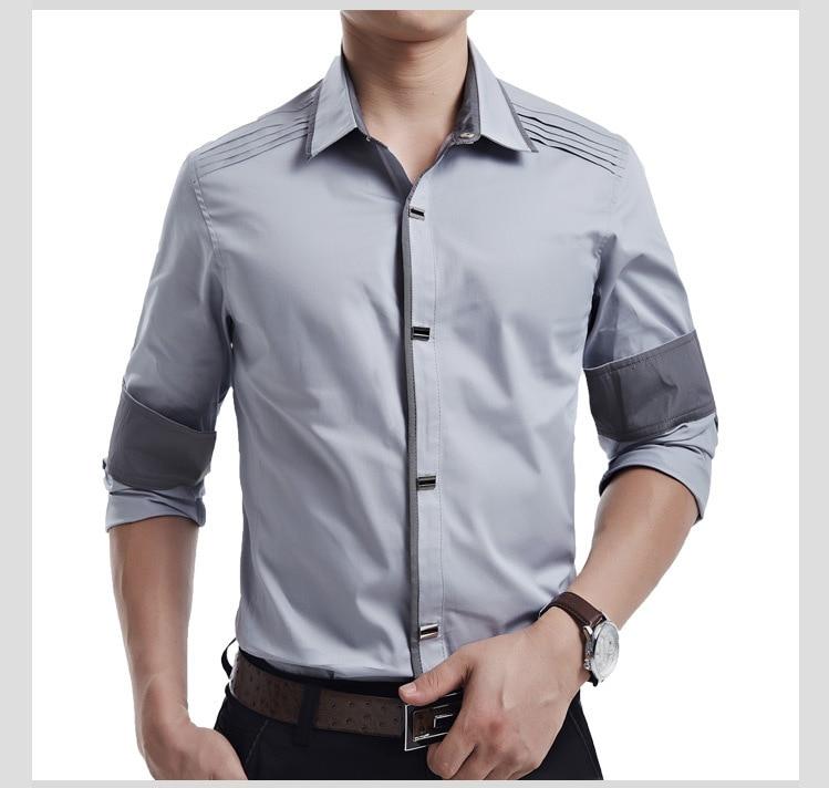 d74634b28d5 High Quality Cheap Men s Dress Shirts Slim Fit Italian Style Boss White  Shirt Men Brand Cotton Business Casual Shirts Plus Size-in Dress Shirts  from Men s ...