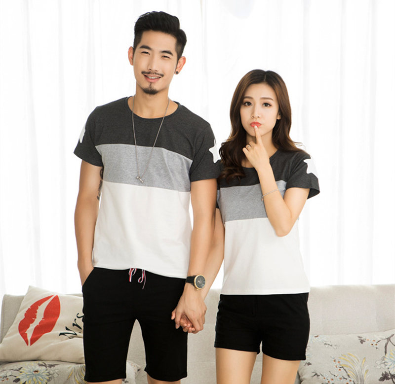 HTB1n3BXjPuhSKJjSspdq6A11XXaC - Family Look Summer style Short-sleeve Star T-shirt For Mother Daughter And Father Son Clothes Family Matching Clothes