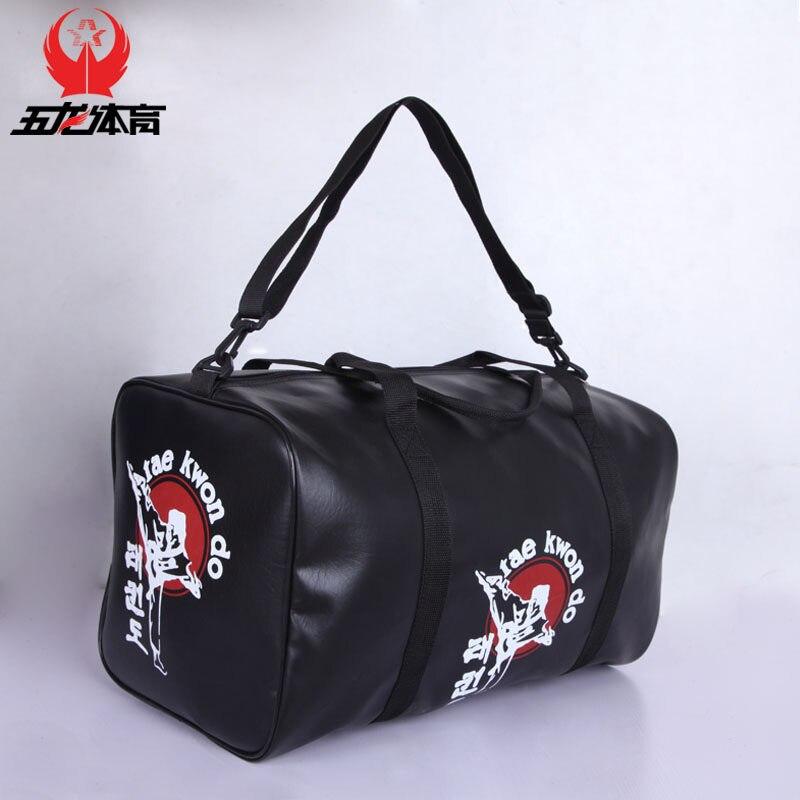 Free shipping leather sports gym bag taekwondo Kanpo karate bags sanda boxing Protector sports bags
