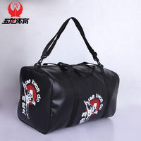 Free shipping leather sports gym bag taekwondo / Kanpo / karate bags sanda / boxing Protector sports bags