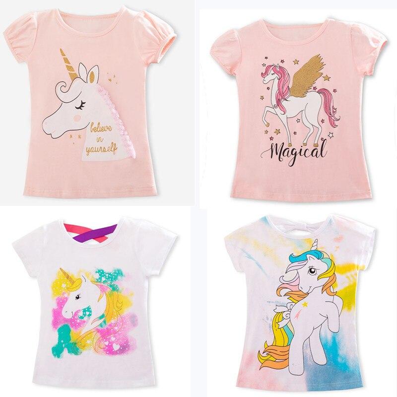 Girl T-Shirt Clothing Tops Tees Unicorn Short-Sleeve Toddler Baby-Boy Kids Cotton Children