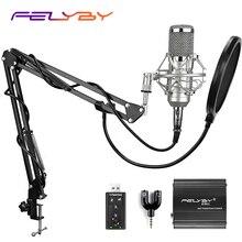 FELYBY Brand Professional bm 800 Condenser KTV Microphone Pro Audio Studio Vocal Recording Karaoke microphone