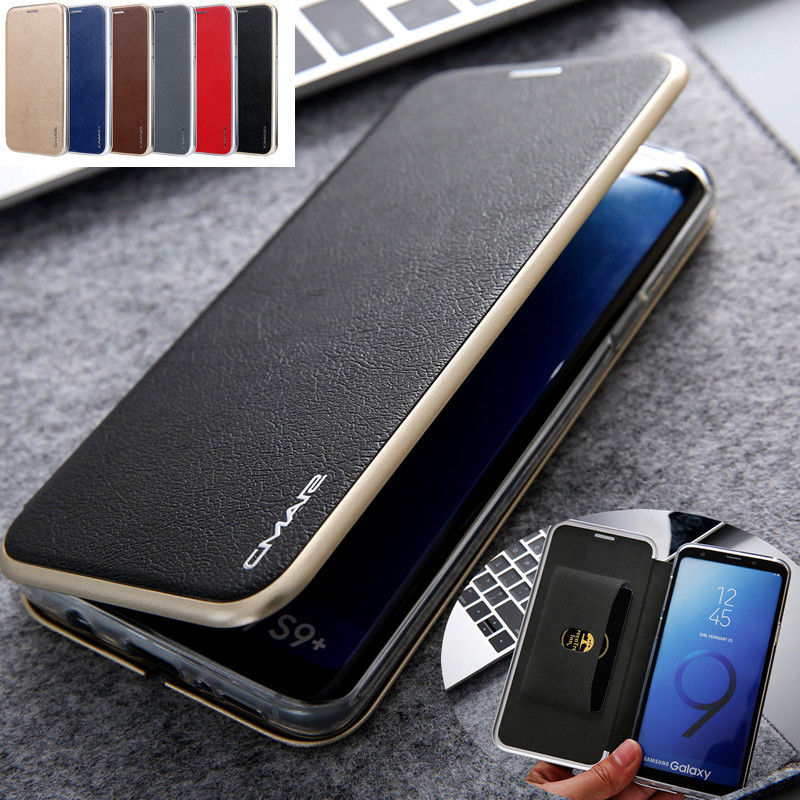 For Samsung Luxury Leather Wallet Card Slot Slim Case