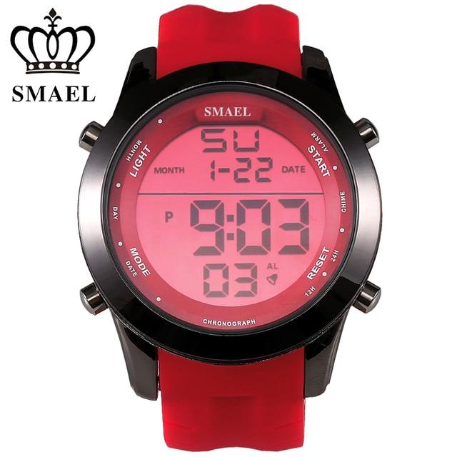 SMAEL Brand Sport Watches 30m Waterproof LED Digital Wrist Watch Men Clock Alloy Fashion Watch LED relogios masculino WS1076