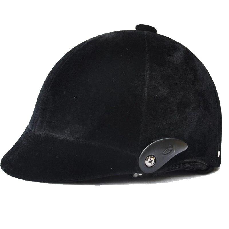 Prix pour Chaude Professionnel Équitation Casque Noir Semi-couverte Équestre Cheval Cap Équitation Casque Équipement 54-60 cm réglable