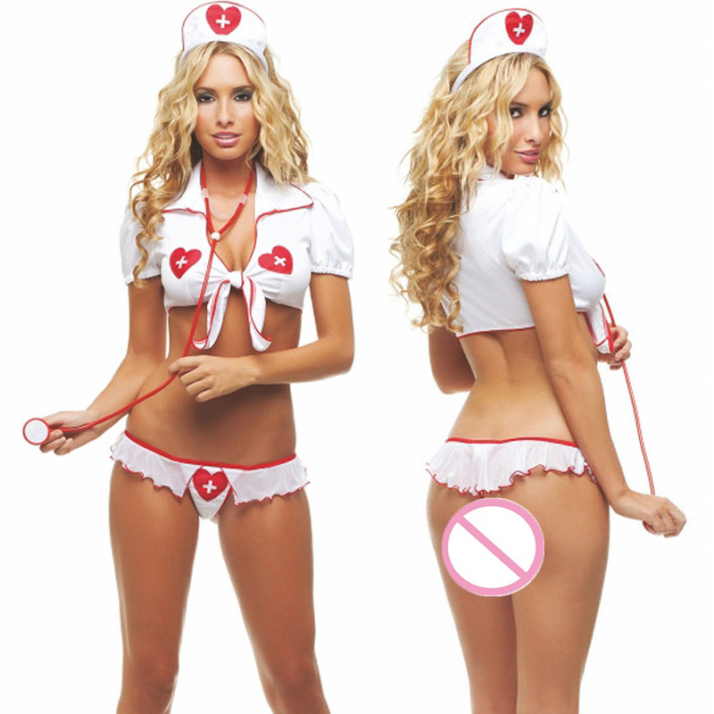 Buy S-XXL Women Teddy Cosplay Sexy Lingerie Plus Size Babydoll Sexy Nurse Costumes Porn Erotic Lingerie Sexy Uniform Underwear Dress