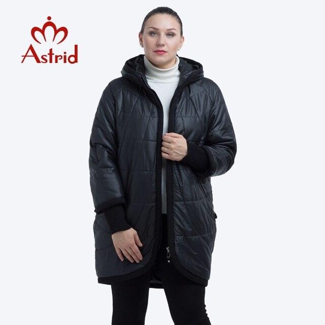 NEW 2018 Аstrid куртка женская в зиму женское пальто с капюшоном на молнии плюс размеры леди женская утепленная парка plus size AM-2075
