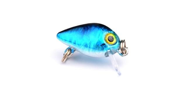 1PCS 2.6cm1.6g Crank Bait Swim Fishing Lure Wobbler Japan Artificial Hard Diving Colorful Mini Fishing Crankbait LD-81